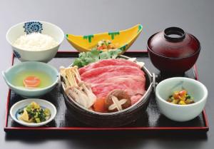山形牛 すきやき膳(75g)