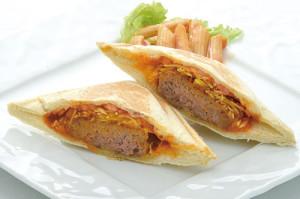 米沢牛ハンバーグのホットサンド(ドリンク付き)