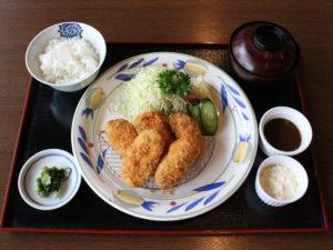 三陸産牡蠣フライ膳