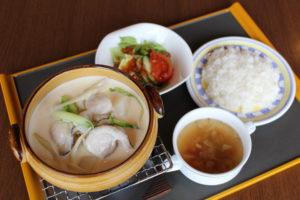 米沢伝統冬野菜と帆立のクリーム煮